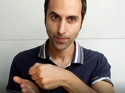 italian hand gesture sei duro